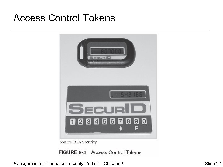 Access Control Tokens Management of Information Security, 2 nd ed. - Chapter 9 Slide