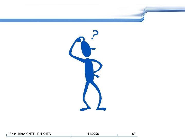 Ebiz - Khoa CNTT - ĐH KHTN 11/2006 58