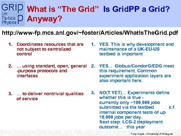 """What is """"The Grid"""" Is Grid. PP a Grid? Anyway? http: //www-fp. mcs. anl."""
