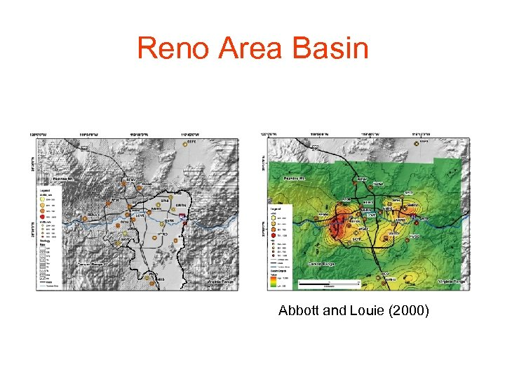 Reno Area Basin Abbott and Louie (2000)