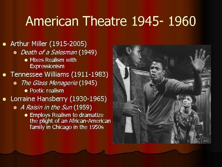 American Theatre 1945 - 1960 l Arthur Miller (1915 -2005) l Death of a