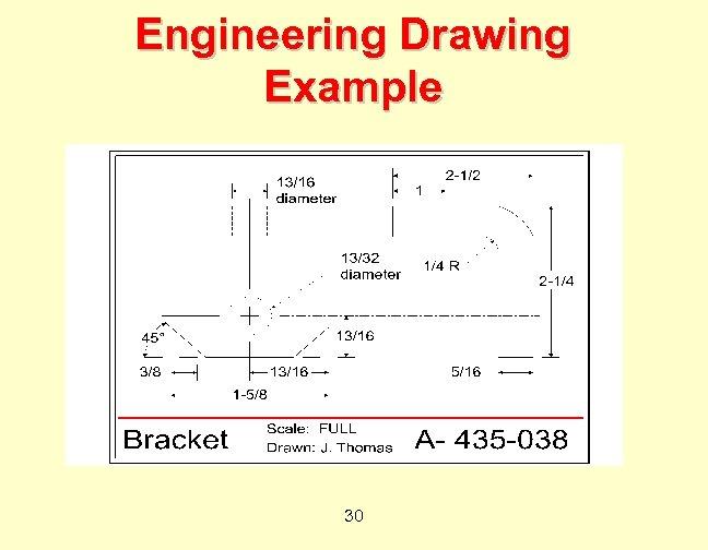 Engineering Drawing Example 30