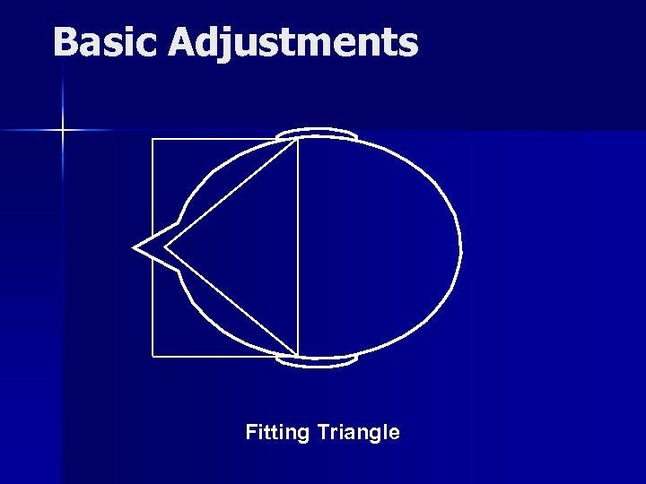 Basic Adjustments Fitting Triangle