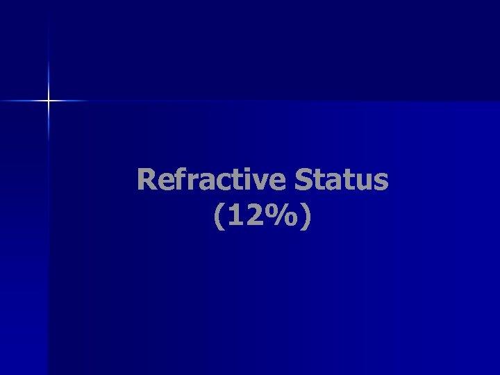 Refractive Status (12%)