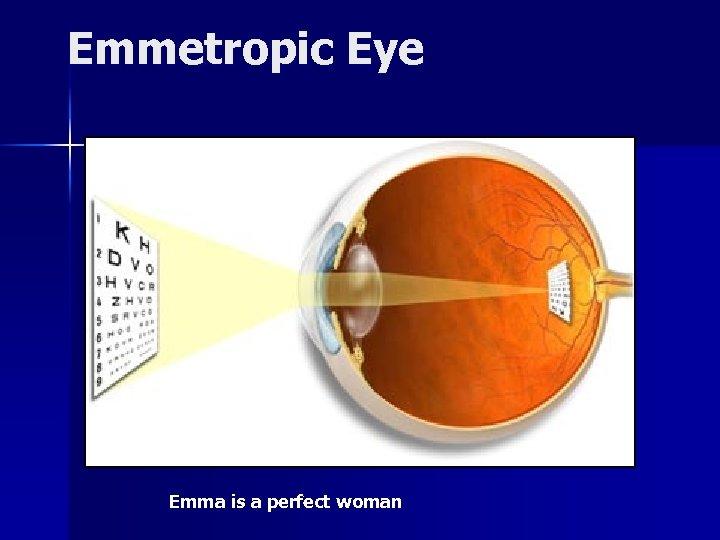 Emmetropic Eye Emma is a perfect woman
