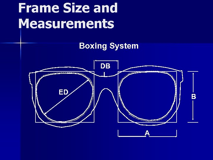 Frame Size and Measurements Boxing System DB L ED B A