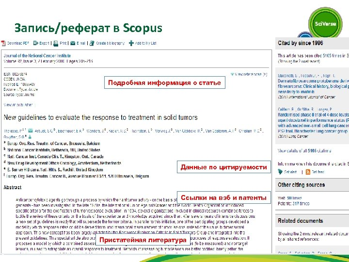 Запись/реферат в Scopus Подробная информация о статье Данные по цитируемости Ссылки на вэб и