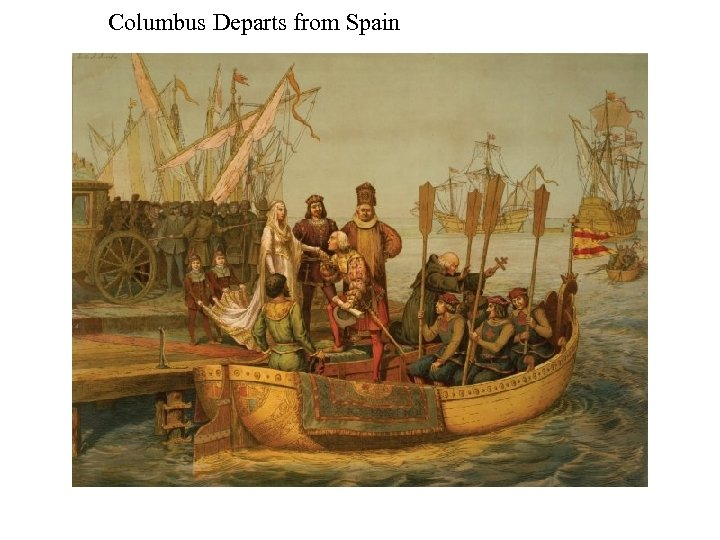 Columbus Departs from Spain