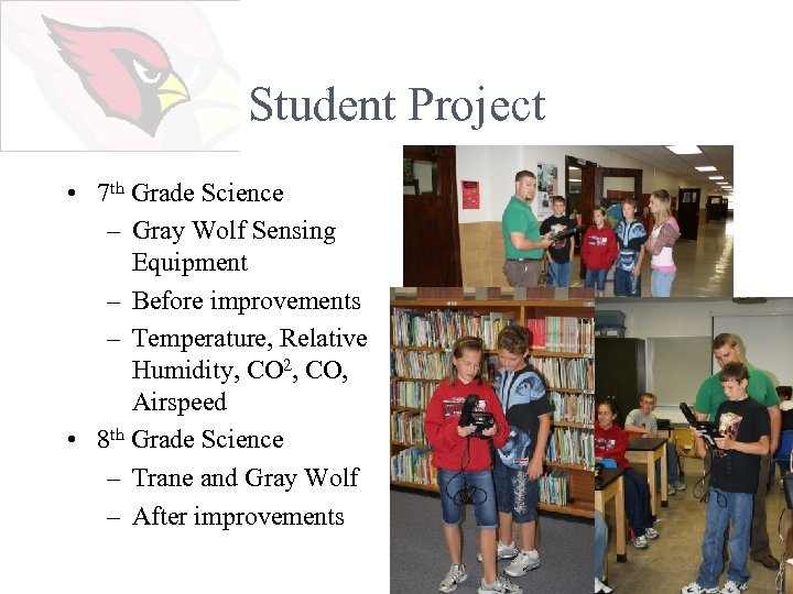 Student Project • 7 th Grade Science – Gray Wolf Sensing Equipment – Before