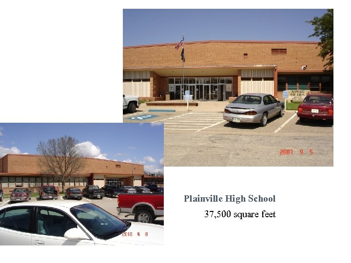 Plainville High School 37, 500 square feet