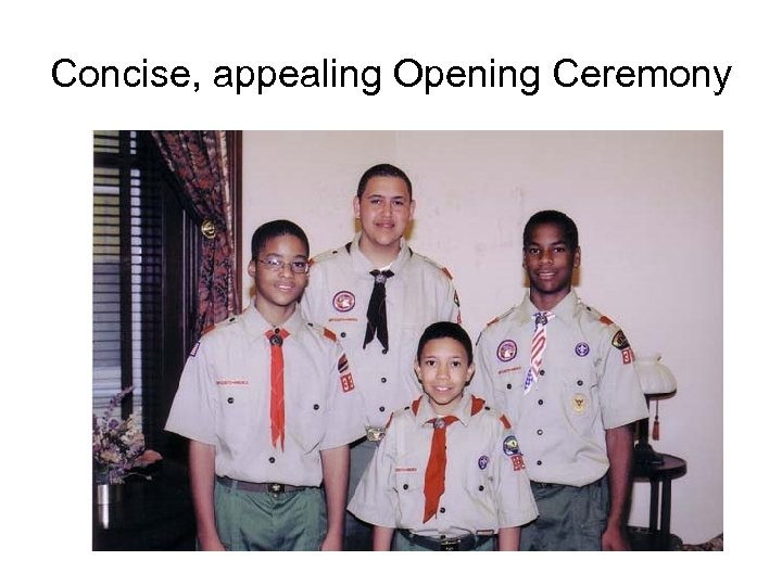 Concise, appealing Opening Ceremony