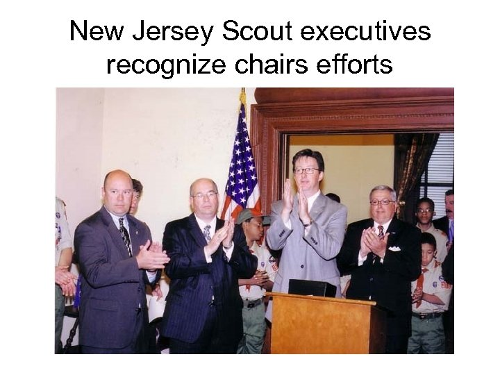 New Jersey Scout executives recognize chairs efforts