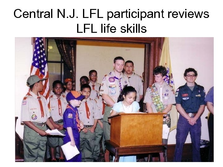 Central N. J. LFL participant reviews LFL life skills