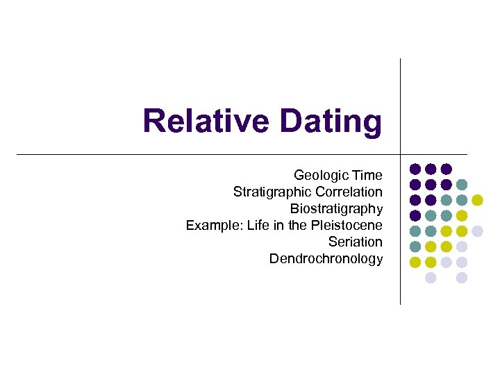 relative dating methods archaeology