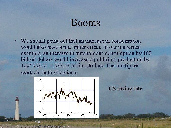 Booms • We should point out that an increase in consumption would also have