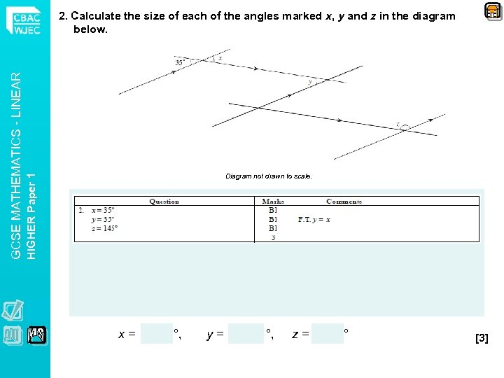 Diagram not drawn to scale. HIGHER Paper 1 GCSE MATHEMATICS - LINEAR 2. Calculate