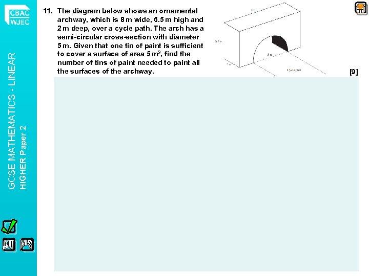 HIGHER Paper 2 GCSE MATHEMATICS - LINEAR 11. The diagram below shows an ornamental