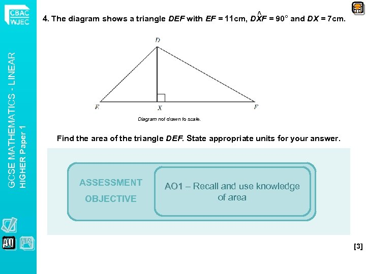 Diagram not drawn to scale. HIGHER Paper 1 GCSE MATHEMATICS - LINEAR ^ 4.