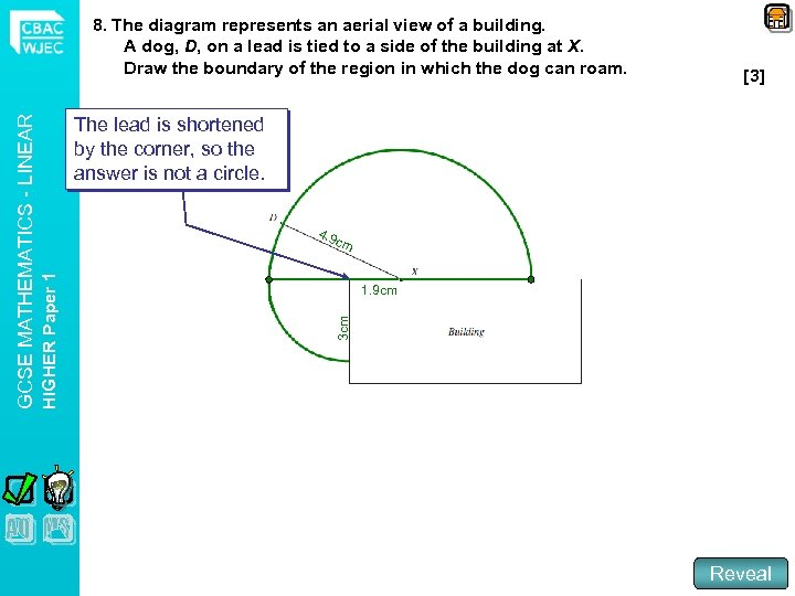 [3] The lead is shortened by the corner, so the answer is not a