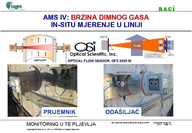 AMS IV: BRZINA DIMNOG GASA IN-SITU MJERENJE U LINIJI OPTICAL FLOW SENSOR: OFS 2000