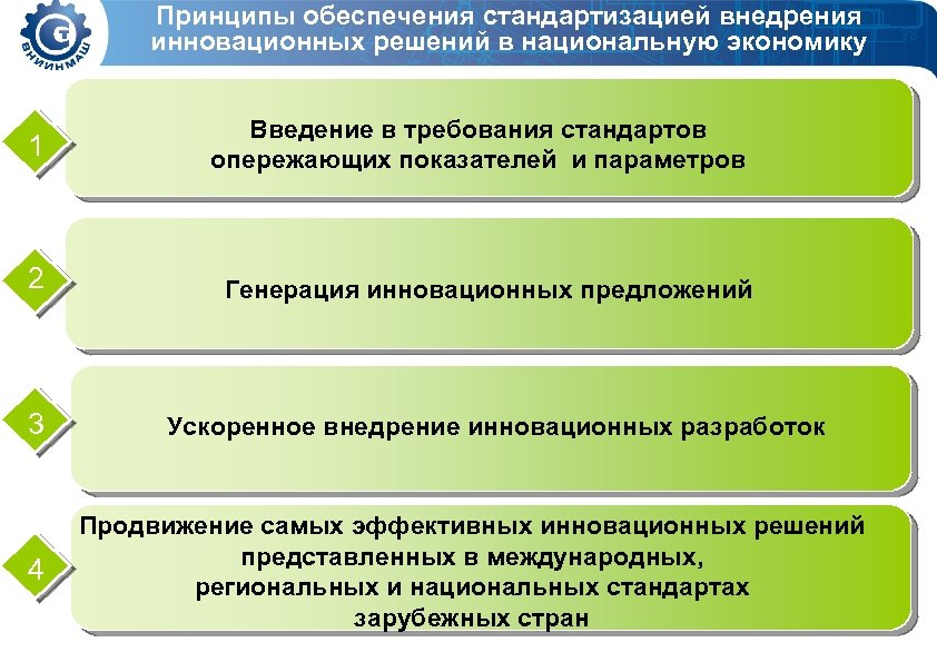 Принципы обеспечения стандартизацией внедрения инновационных решений в национальную экономику 1 Введение в требования стандартов