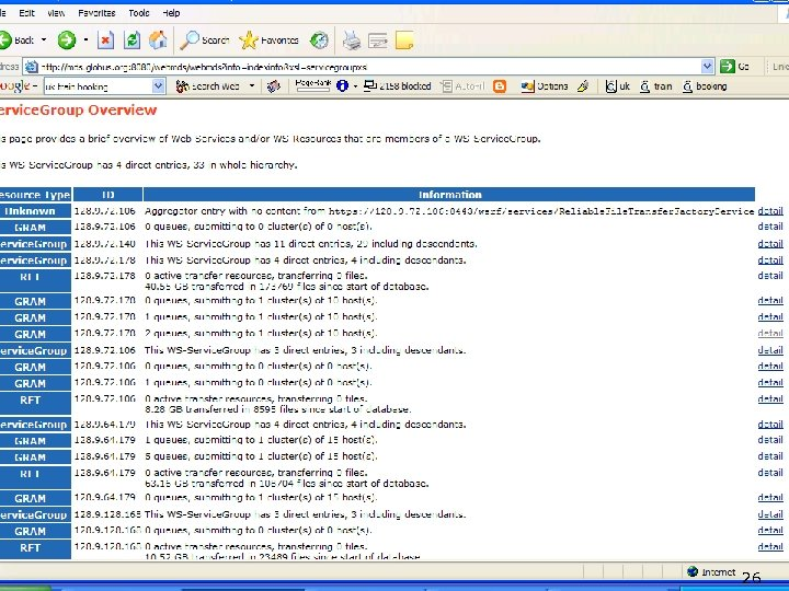 Web. MDS Service 26