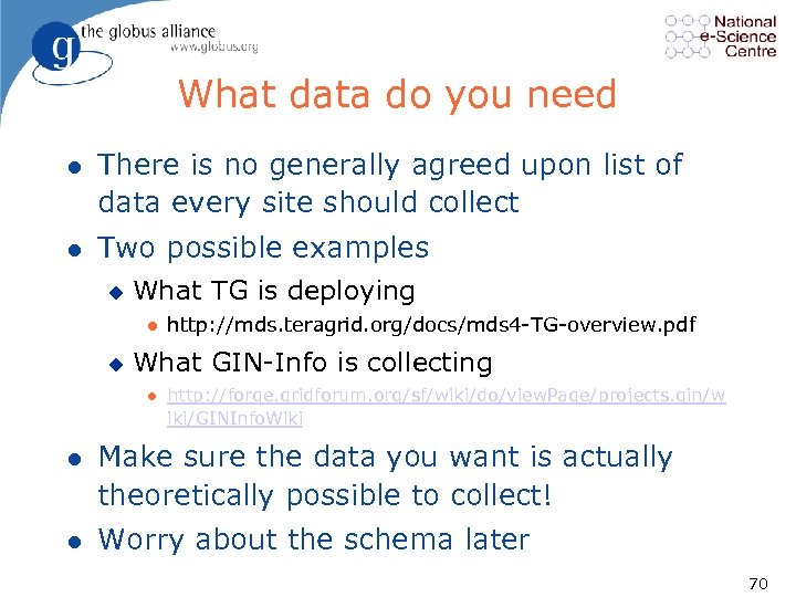 What data do you need l There is no generally agreed upon list of