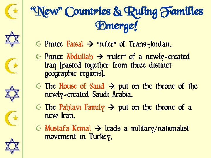 """New"" Countries & Ruling Families Emerge! Z Prince Faisal ""ruler"" of Trans-Jordan. Z Prince"