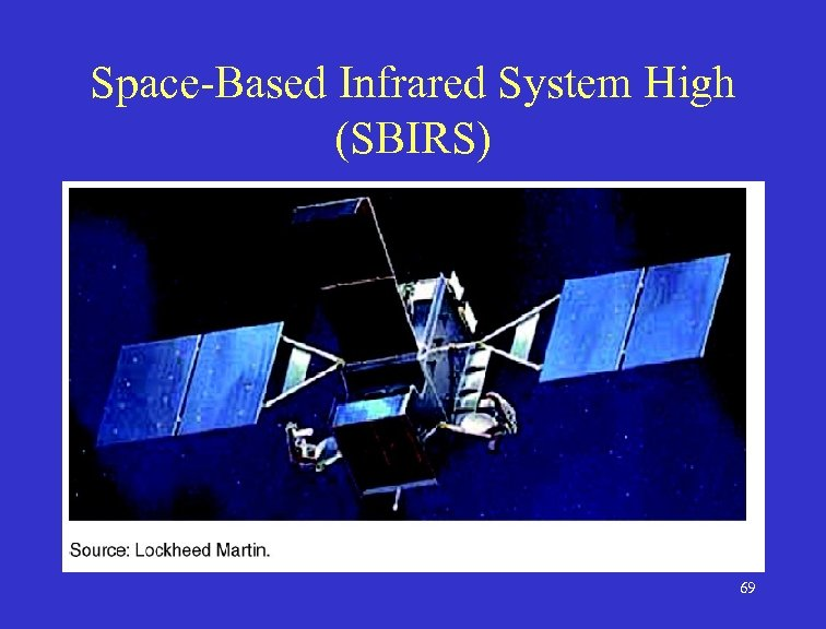 Space-Based Infrared System High (SBIRS) 69