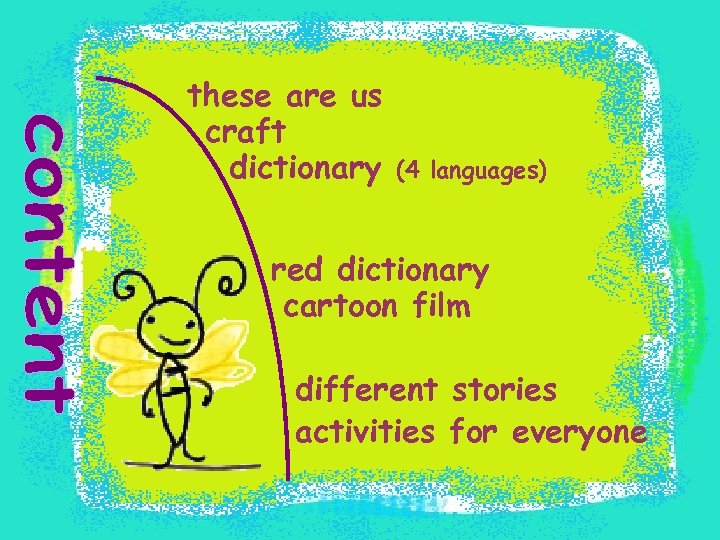 these are us craft dictionary (4 languages) red dictionary cartoon film different stories activities
