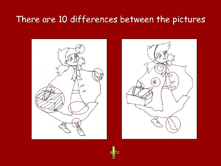 There are 10 differences between the pictures