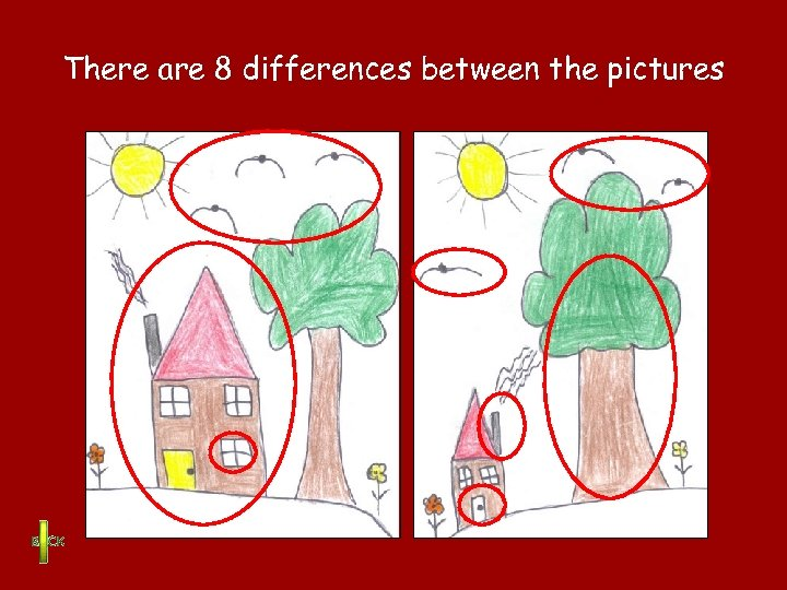 There are 8 differences between the pictures