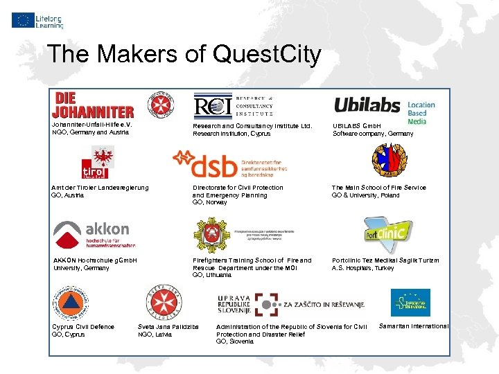 The Makers of Quest. City Johanniter-Unfall-Hilfe e. V. NGO, Germany and Austria Research and
