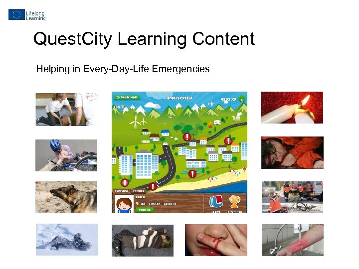 Quest. City Learning Content Helping in Every-Day-Life Emergencies
