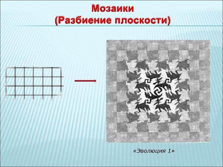 Мозаики (Разбиение плоскости) «Эволюция 1»
