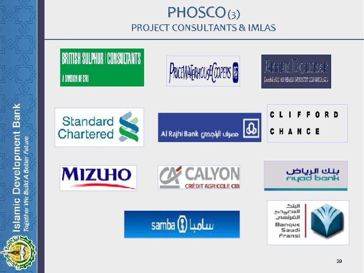 PHOSCO (3) PROJECT CONSULTANTS & IMLAS 29