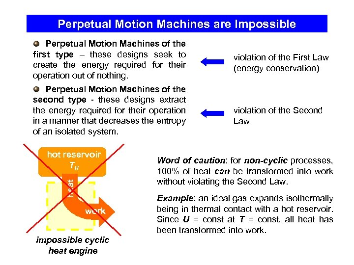Perpetual Motion Machines are Impossible Perpetual Motion Machines of the first type – these