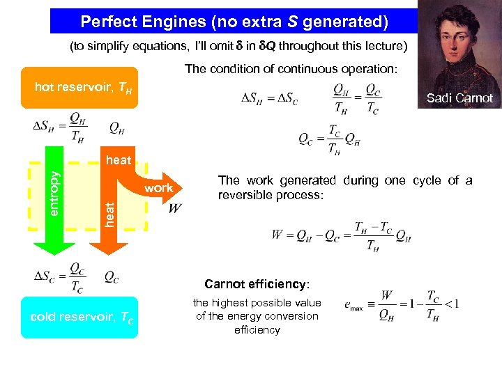 Perfect Engines (no extra S generated) (to simplify equations, I'll omit in Q throughout