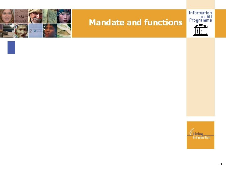 Mandate and functions 3