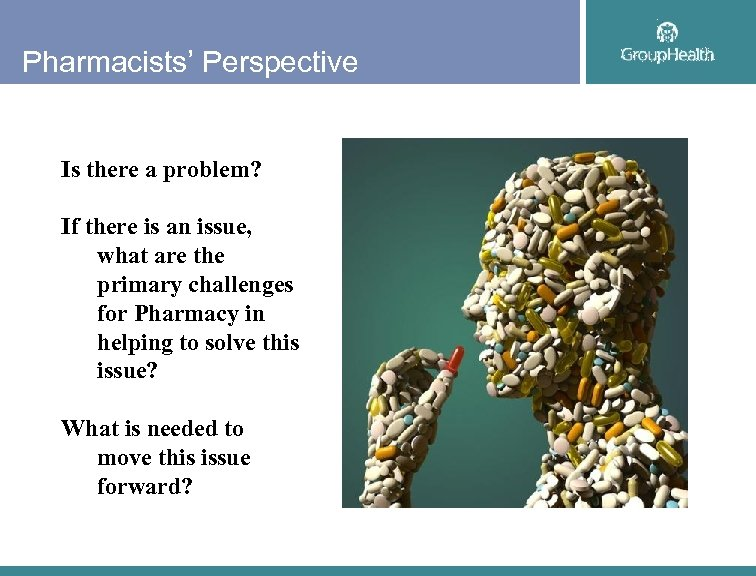 Pharmacists' Perspective Is there a problem? If there is an issue, what are the