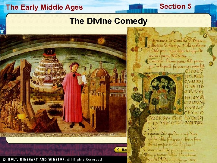 The Early Middle Ages The Divine Comedy Section 5