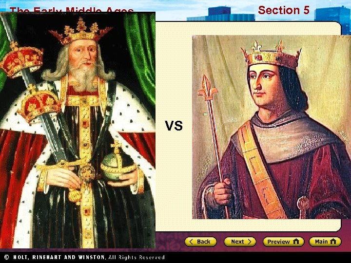 Section 5 The Early Middle Ages VS