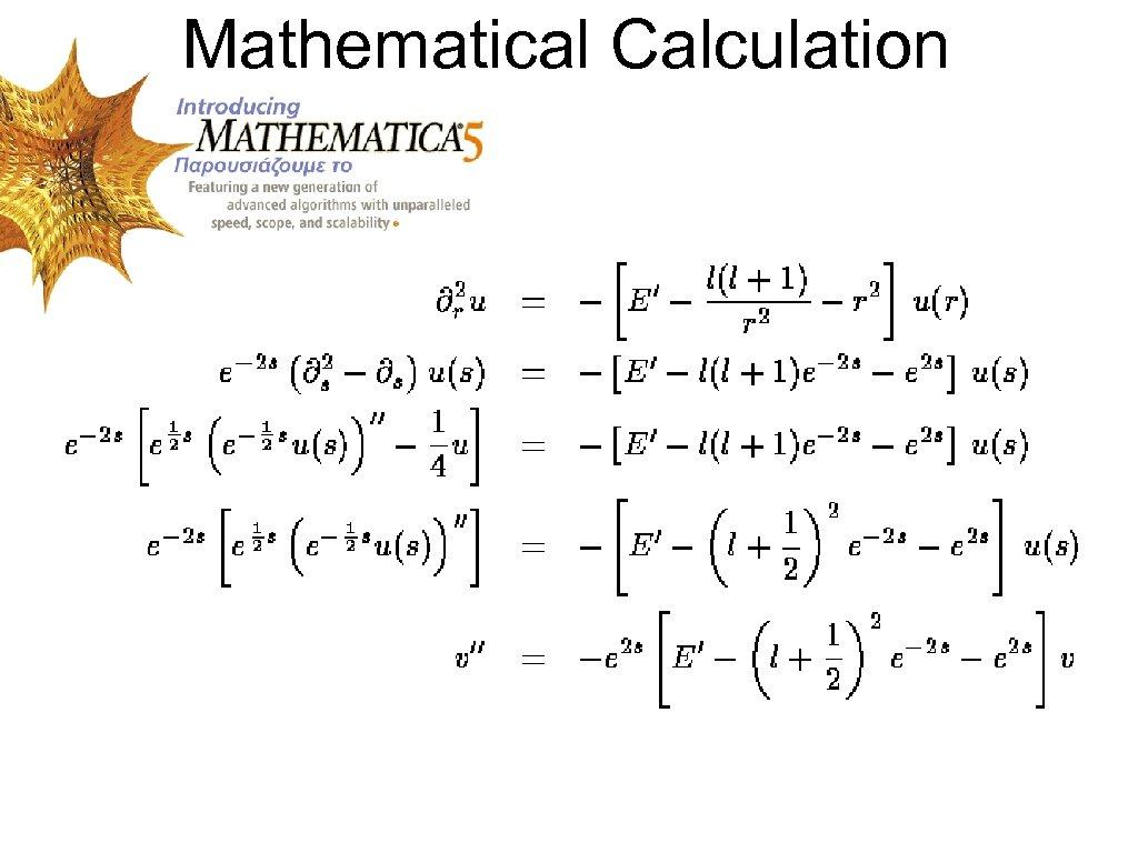 Mathematical Calculation