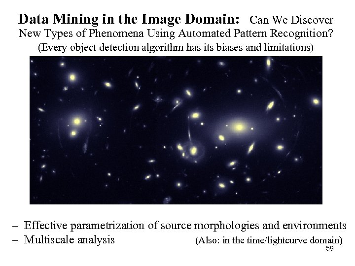 Data Mining in the Image Domain: Can We Discover New Types of Phenomena Using