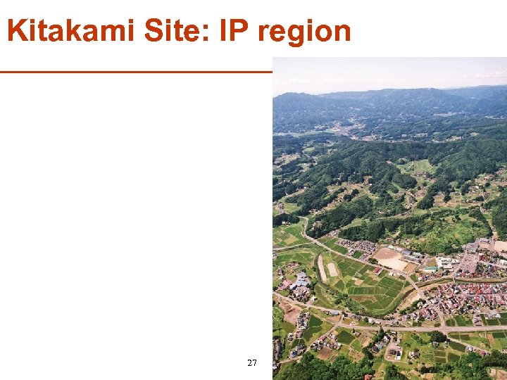 Kitakami Site: IP region 27