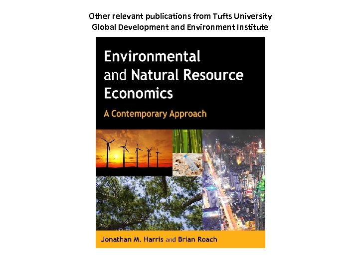 Other relevant publications from Tufts University Global Development and Environment Institute