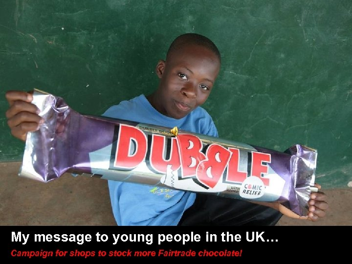 SLIDE TITLE HERE • Other stuff here My message to young people in the
