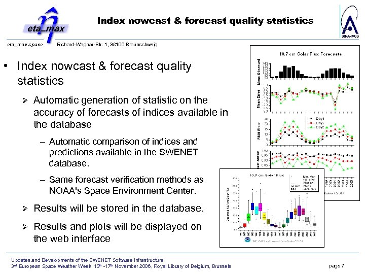 Index nowcast & forecast quality statistics eta_max space Richard-Wagner-Str. 1, 38106 Braunschweig • Index
