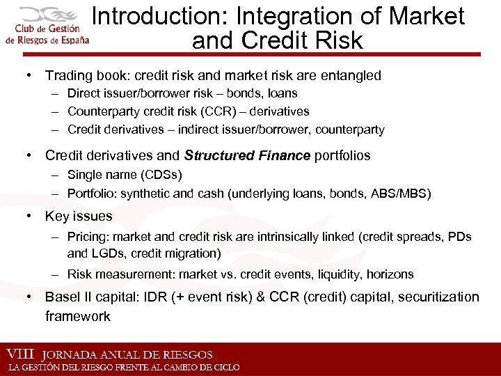 Integración de Riesgos de Mercado y Crédito Valuacion