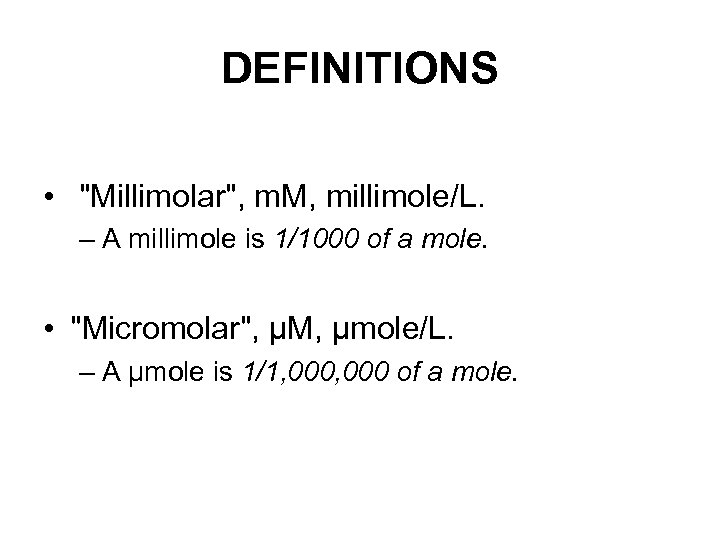 DEFINITIONS •